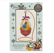 Us Disney Princess Musical And Movement Ornament With Stand Nib Snow White Belle