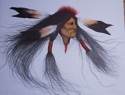 Frank Howell - Oglala Warrior  10 Of 15 Hand Signed Lithograph - Hand Colored