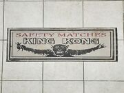 Antique Advertisement Metal Cigar Store Sign - King Kong Safety Matches 48x15