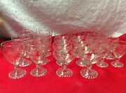 Anchor Hocking Bubble Foot Crystal Goblets Set Of 24 Modern Rose - Ahc11