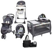 Baby Trend Combo Sets Stroller With Car Seat Playard Diaper Bag Set High Chair