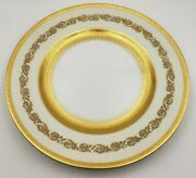 Exquisite French Raynaud Ceralene Limoges Imperial China Dinner Plates W/ Gold