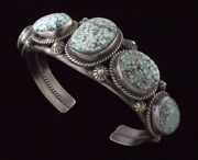 High Grade Natural Dry Creek Turquoise Row Bracelet By Ella M. Linkin