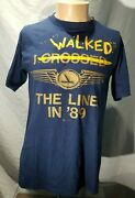 Eastern Airlines I Walked The Line In 89 Union Strike T Shirt Thin 50/50 Usa