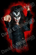 Kiss The Originals Series The Demon Gene Simmons By Artist David E. Wilkinson