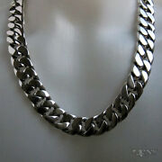 Emperor Men's Necklace Chain .925 Sterling Silver 24 Inches