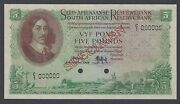 South African 5 Pounds 1-11-1948 P95s Specimen Uncirculated
