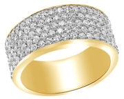 1 Ct Round Cut White Diamond Five Row Engagement Ring In 10k Yellow Gold