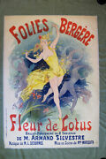 Folies Bergere - Art By Cheret 1893 34.75 X 49 French Theater Advertising...
