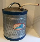 Vintage Old Blue Ll 5 Gal Galvanized Can Kerosene Oil Gas Can No. K-5