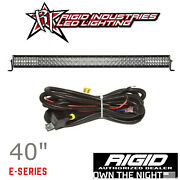 Rigid E-series Pro 40 Led Spot Driving Combo Light Bar With Harness And Switch