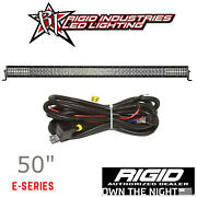 Rigid E-series Pro 50 Led Spot Driving Combo Light Bar With Harness And Switch