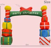Giant Inflatable Christmas Arch With Gift Boxes For Opening Ceremony 6m New Wi