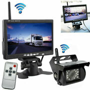 Wireless Car 7 Hd Monitor Ir Rear View Backup Camera System For Trailer Tractor