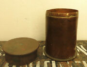 Military Wwi Unusual Trench Art Jar Lidded Container Dated 1917 5361