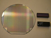 Silicon Wafer Collectors Set- 6 1987 Dallas Semiconductor Ds5000 Wafer And Chip