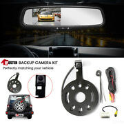 For Jeep Wrangler Jk 07-17 Back Up Camera Spare Tire Carrier+4.3 Mirror Monitor