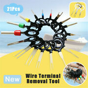 21pcs/set Car Terminal Removal Electrical Wiring Crimp Connector Pin Extractor