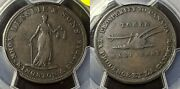 Upper Canada Nd18241/2 Half Penny Uc-2a5 Br-718 Token Pcgs Xf40 Extremely Fine