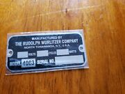 Reproduction Tag For A Wurlitzer Jukebox Type 4003 Light-up Wall Speaker
