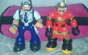 Action Figures Police Officer And Fireman
