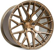 20andrdquo Rohana Rfx10 Brushed Bronze Concave Wheels For Gtr Gt-r R35 20x10.5 20x12