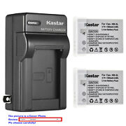 Kastar Battery Ac Travel Charger For Canon Nb-5l 5lh Powershot Sd790 Is Sd790is