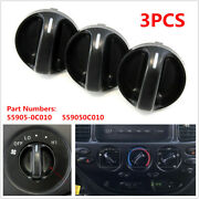Set Of 3 Fit For Toyota Tundra Truck 2000-06 Control Knobs Dials Heater A/c Fan