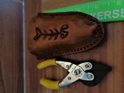 Fishing Sheath Fits 5 Manley Pliers Leather Stainless Steel Handcrafted Usa