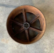 Antique Fly Wheel Tractor Pulley 8andrdquo Diameter 6andrdquowide Vintage Farm Barn Steampunk