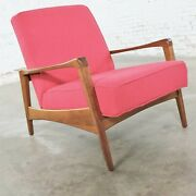 George Nelson 5476 Lounge Chair For Herman Miller Restored And In Fuchsia Fabric