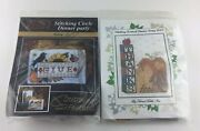 Lot Of Cross Stitch Kits Give Thanks Thanksgiving Bird Squirel Crow Fall