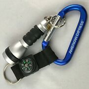 American Express Vintage Near Mint Promo Carabiner Hook W/compass And Flashlight