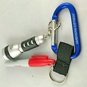 American Express Vintage Near Mint Promo Carabiner Hook W/ Marker And Flashlight