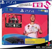 Console Sony Ps4 Playstation 4 1tb Fifa 2020 2 Controls Negros Stock Real Spain