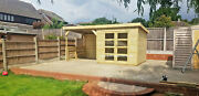 Summer House With Shelter Shed Cabin Hot Tube Tandg Treated Delivery 8-14 Weeks