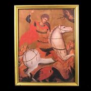 Saint George And The Dragon Icon From Greece