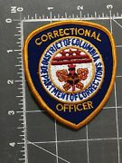 Correctional Officer Police Patch District Of Columbia Department Corrections Dc