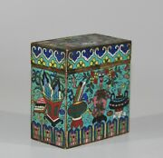 Middle 19th Century Qing Dynast Cloisonne Opium Box Big Size 1182