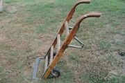 Antique Wooden Dolly Hand Truck Cast Iron Primitive 1920 Jakes Foundry Nashville