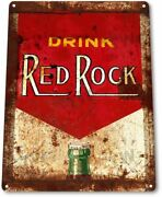 Red Rock Label Pop Cola Soda Store Advertising Retro Wall Decor Large Metal Sign