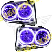 Oracle Halo 2x Headlights Hid Style For Chrysler 300 300c V8 05-10 Purple Led