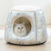 New Warm Pet Dog Cat Sofa Bed House Tent Mat Remoable Indoor House 2 Use