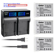 Kastar Battery Lcd Rapid Charger For Canon Nb5l Nb5lh Powershot Sd790 Is Sd790is