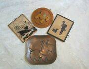 Antique Scotty Dog Collectables Silhouette Pictures, Carved Wood, And Rebaje Coppe