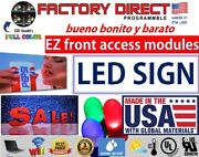 Led Sign Programmable Electronic Board Full Color Outdoor Led Display 19 X 75