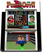Punch Out Classic Boxing Arcade Marquee Game Room Wall Decor Large Metal Sign
