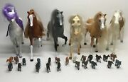 Lot Of 6 Plastic Horses And 22 Small Horses