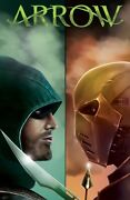 Green Arrow Vs Deathstroke Poster | Exclusive Art | Inking Solstice | New | Usa