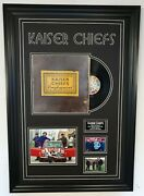 Kaiser Chiefs Signed Photo With Record Lp Autographed Framed Display